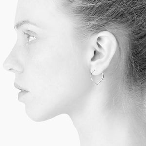 Silver Lee hoop earring by Scherning