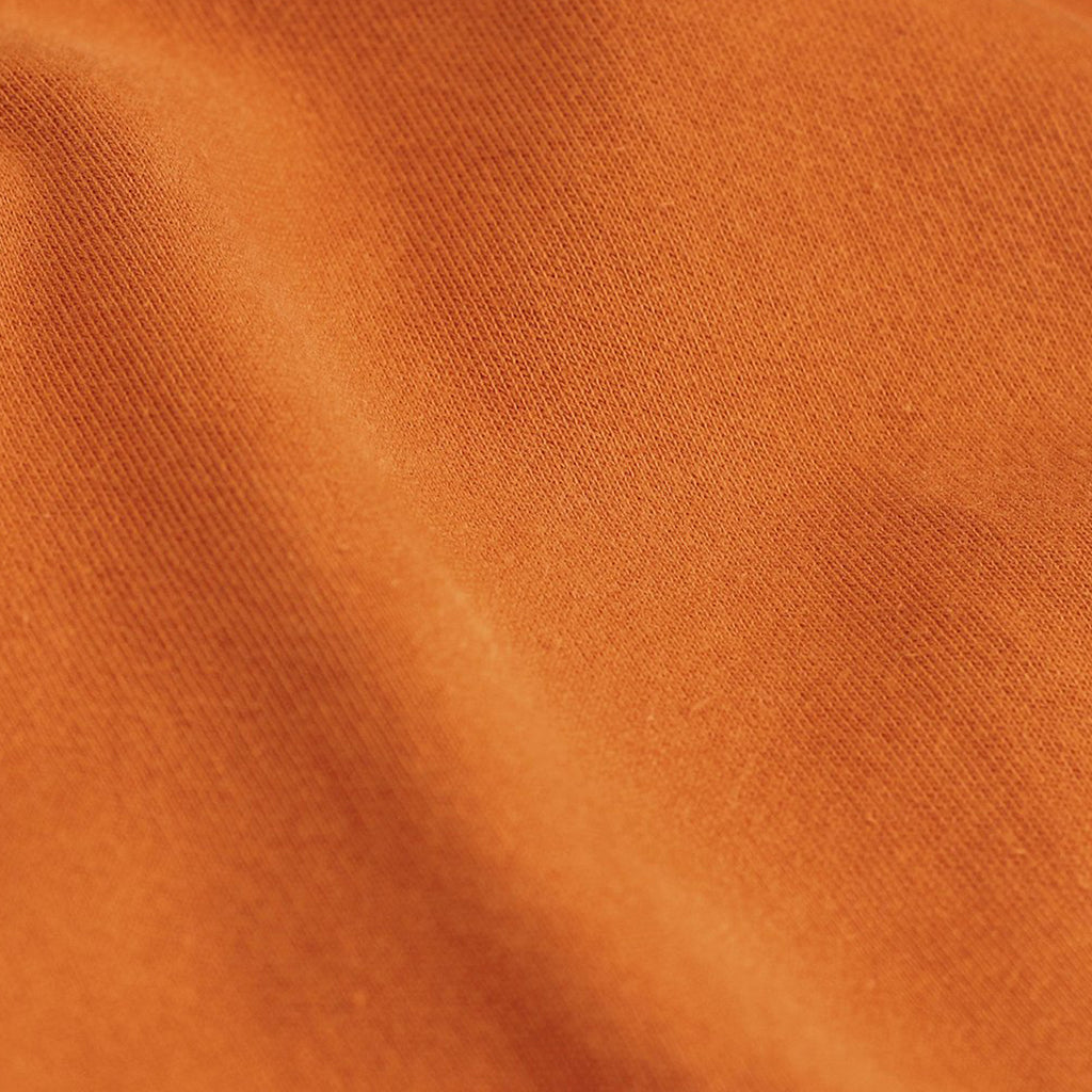 Close up of Sunny Orange Women's Organic tee by Colorful Standard