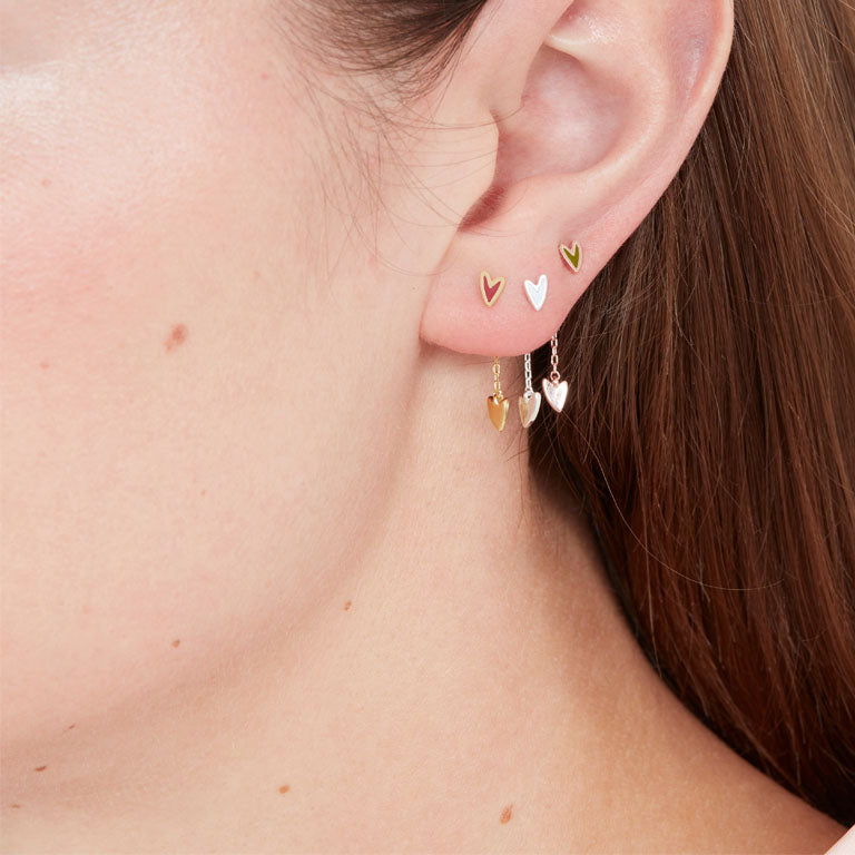 Heartbeat Earring Backs - Gold