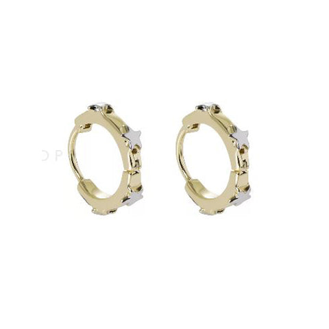 Gold Dotty Stud Earrings
