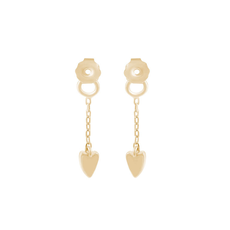 Tada & Toy Heartbeat Earring Backs - Gold