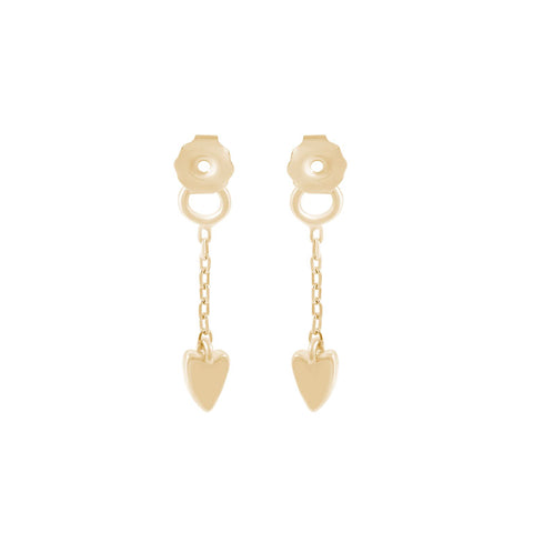 Break-Up Needle and Thread Earrings - Gold