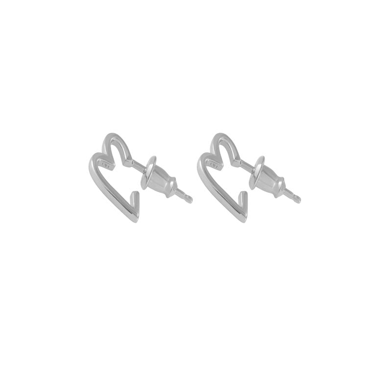 Tada & Toy Sweetheart Hoops - Silver