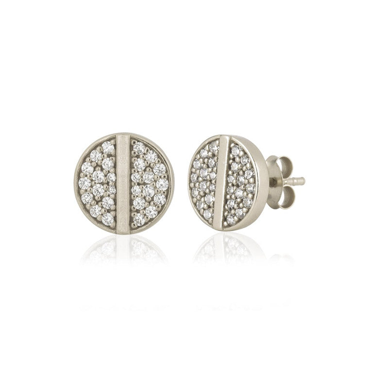 Ingenious Silver Disc Studs