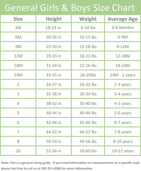 BeMine Collection Size Chart