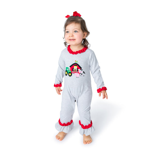 Puppy Applique Girl's Pant Set L/S - 05F21