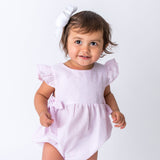 Baby Pink Seersucker Bubble - Wholesale Baby Bubble