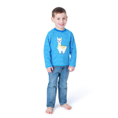 03F20 Llama Applique Boy's T-Shirt