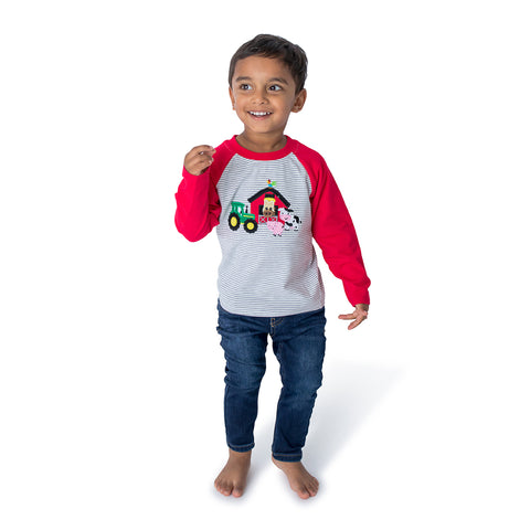 Football Applique Boy's Romper L/S - 35F21