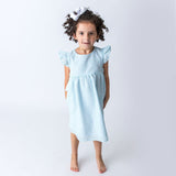 Mint Green Seersucker Girl's Dress