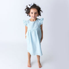 06S20 Mint Green Seersucker Girl's Dress