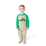 Applique Tractor Boy's Long Romper