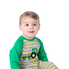 10-F20 Applique Tractor Boy's Romper