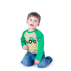 11F20 Tractor Applique Boy's T-Shirt