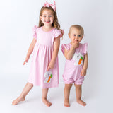 Wholesale Applique Bunny Dress and Romper