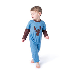 12F20 Deer Applique Boy's Romper