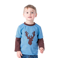 13F20 Dear Applique Boy's T-Shirt