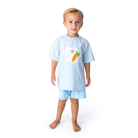 09S21 Applique Easter Bunny Boy's Romper