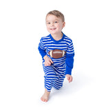Boy's Long Romper with a Football Applique