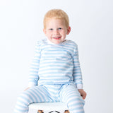 Boy's Light Blue Stripes Loungewear