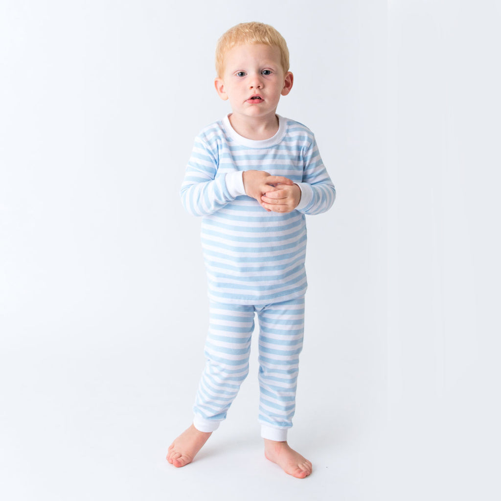 Blue Stripes Kids Easter Pajama