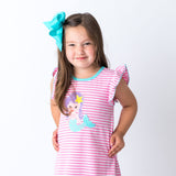 Wholesale Applique Mermaid Girls Dress