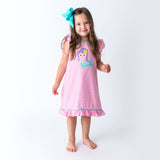 Applique Mermaid GIrl's Dress
