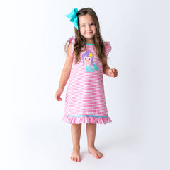19S20 Applique Mermaid Girl's Dress