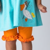 Wholesale Applique Pelican Girl's Short Set