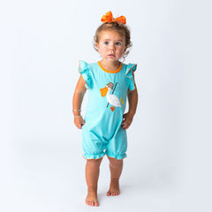 23S20 Applique Pelican Baby Girl Romper