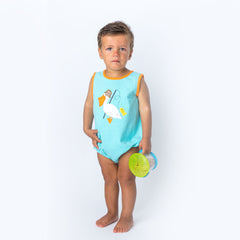 24S20 Applique Pelican Baby Boy Romper