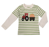 Applique Tractor Bot's Long Sleeves T-Shirt