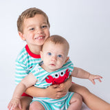 Red Crab Applique Boy's Shortall and Short Set