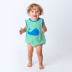 36S20 Applique Whale Boy's Romper