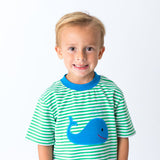 Blue Whale Applique Short Set