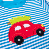 Applique Car Boy's Romper