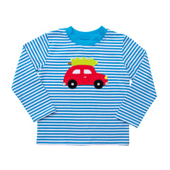 Car and Christmas Tree Applique Boy's Shirt L/S - 44H21