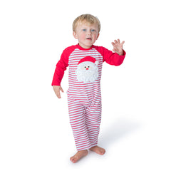 Santa Applique Boy's Romper L/S - 47H21