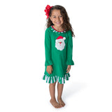 Applique Santa Girl's Gown