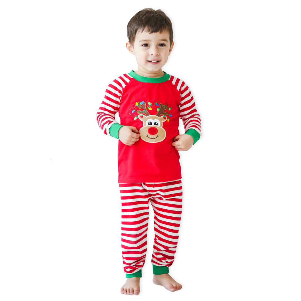 Applique Reindeer Christmas Pj