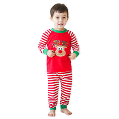 Reindeer Applique Christmas 2 Piece Unisex Loungewear - 55L21