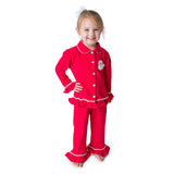 Applique Santa GIrl's Loungewear