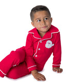 Boy's Christmas Pjs with Applique Santa