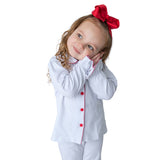 Christmas White Pj for Girls