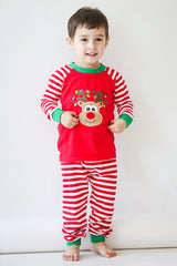 984-F18 Applique Christmas Reindeer Unisex Loungewear