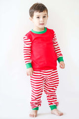 986-F18 Red, White and Green Knit Unisex Loungewear
