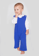 9128H18 - Royal Blue Knit Baby Boy's Longall