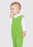 Boy's Christmas Green Blank Knit Longall