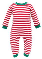 987-F18 Red, White and Green Unisex Romper Loungewear