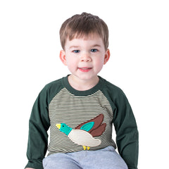 15F20 Mallard Duck Applique Boy's T-Shirt